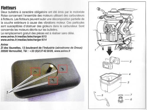 rotax,912,flotteurs,carbu,information,echange,réparation,suivi,avirex